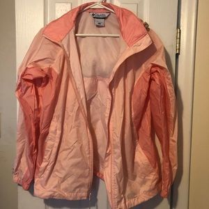 Columbia Rain Coat Jacket Pink Womens